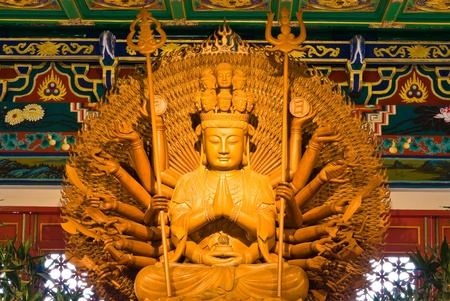 buddha statue in Wat-Leng-Noei-Yi2 at Bang-Bua-Thong, Nonthaburi, Thailand Stock Photo - 8681642