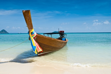 long tailed boat: Long tailed boat in Thailand Stock Photo