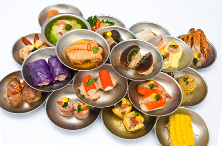 variety of dim sum in small plate Stock Photo - 8750006