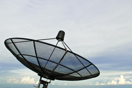 Satellite dish and blue sky Stock Photo - 8876521
