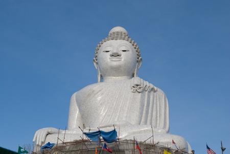 The Giant Big Marble Buddha at Phuket, Thailand photo