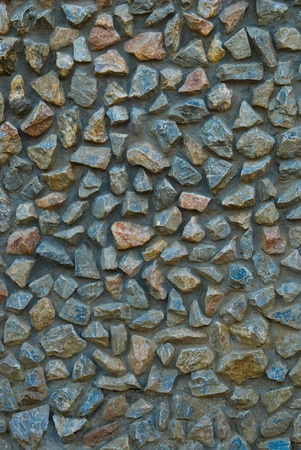 concrete surface finishing: stone texture of  wall decoration Stock Photo