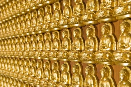 lengnoeiyi: Buddha temple wall in Wat-Leng-Noei-Yi2 at Bang-Bua-Thong, Nonthaburi, Thailand