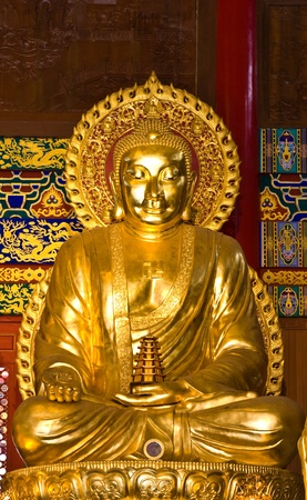 buddha statue in Wat-Leng-Noei-Yi2 at Bang-Bua-Thong, Nonthaburi, Thailand photo