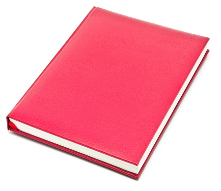 red book on white background Stock Photo - 8958873