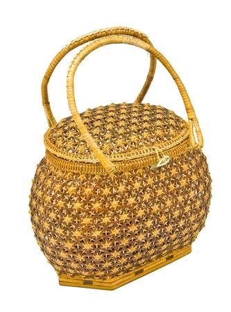 cepelia: bamboo bag  on white background