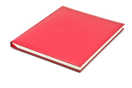 whie: red book on whie background