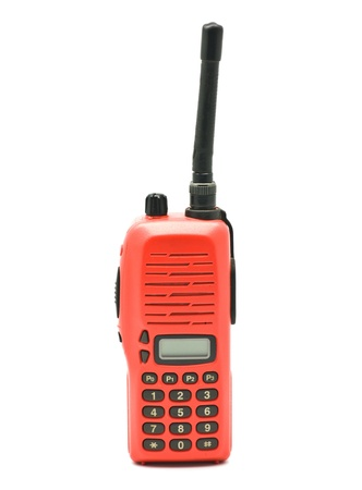 Red radio communication on white background Stock Photo - 9302725