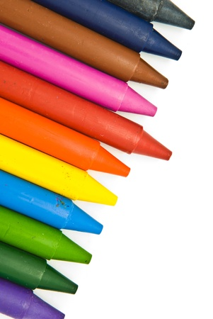 Wax crayons on white background Stock Photo - 9339241