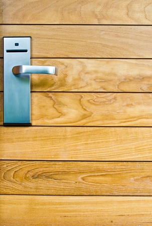 wicket door: key lock on wood door