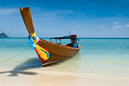 long tailed boat: Long tailed boat at Phiphi island, Thailand