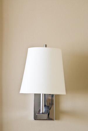 fashion of wall lamp in the room photo