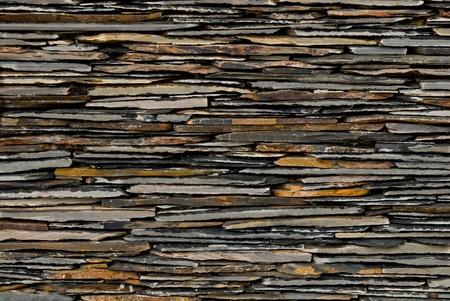 pattern of decorate Slate Stone wall photo