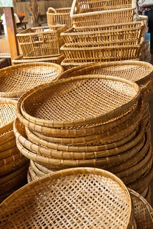 Bamboo basket in market Stock Photo - 9731190