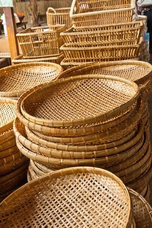 Bamboo basket in market Stock Photo - 9731190