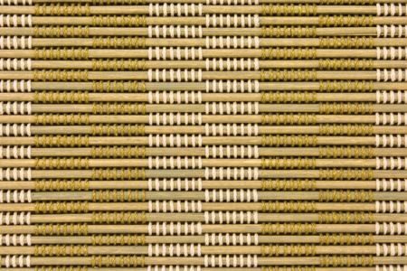 close up of bamboo curtain pattern material Stock Photo - 9875161