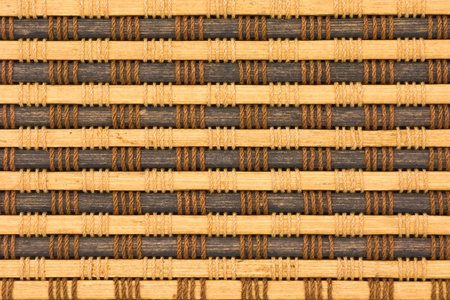 close up of bamboo curtain pattern material Stock Photo - 9875184