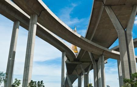 intersect: Bhumibol Bridge, The Industrial Ring Road Bridge in Bangkok, Thailand