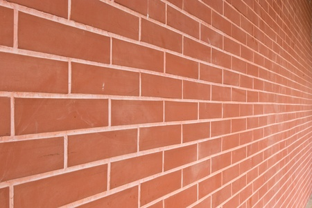 bulwark: red brick wall texture in horizontal view
