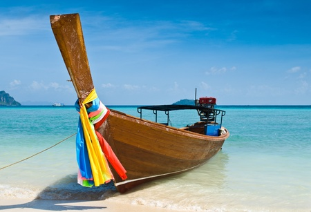 Long tailed boat at Phiphi island, Thailand photo