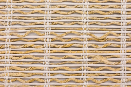 close up of bamboo curtain pattern material Stock Photo - 10252619