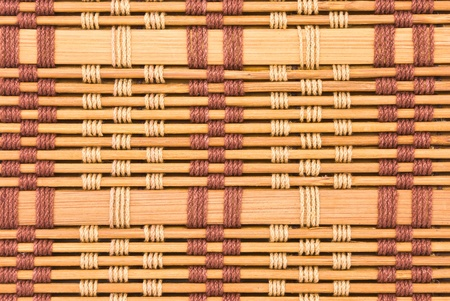 close up of bamboo curtain pattern material Stock Photo - 10252637
