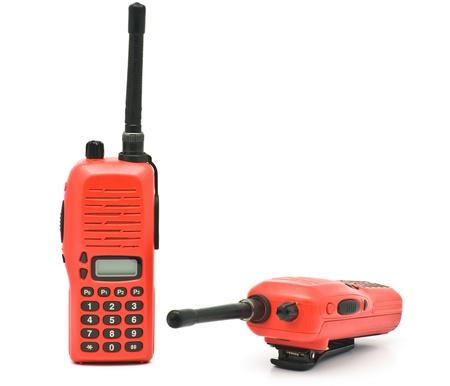 Red radio communication on white background Stock Photo - 10252564