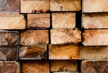 wooden beams: Cross section detail of old hardwood surface