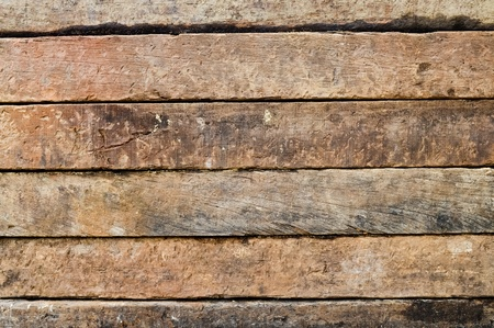 wooden beams: side view detail of old hardwood surface Stock Photo