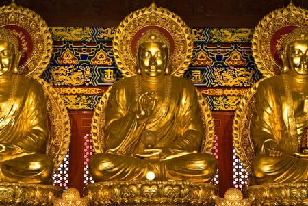 buddha statue in Wat-Leng-Noei-Yi2 at Bang-Bua-Thong, Nonthaburi, Thailand Stock Photo - 10600603