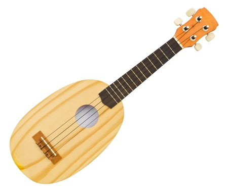 acoustic ukulele: hawaiian traditional instrument ukulele guitar on white background