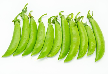 Green beans isolated on a white background Stock Photo - 10891195