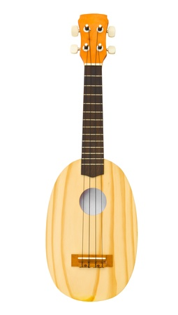 hawaiian traditional instrument ukulele guitar on white background