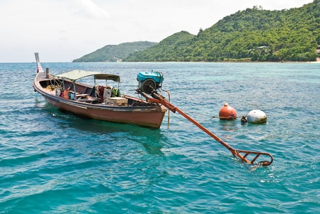 Long tail boat at Phiphi island, Thailand photo