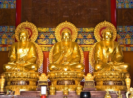 buddha statue in Wat-Leng-Noei-Yi2 at Bang-Bua-Thong, Nonthaburi, Thailand Stock Photo - 11117708
