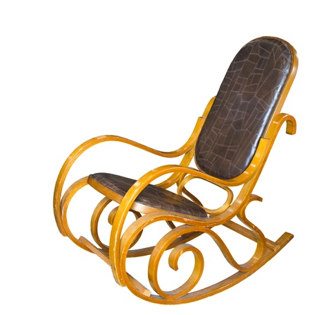 antique leather chair, isolated on a white background Stock Photo - 11449976
