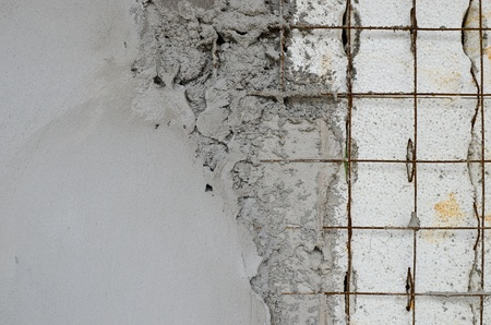 Technology reinforced concrete walls within the styrofoam Stock Photo