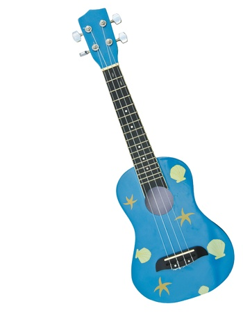 hawaiian traditional instrument ukulele guitar on white background photo