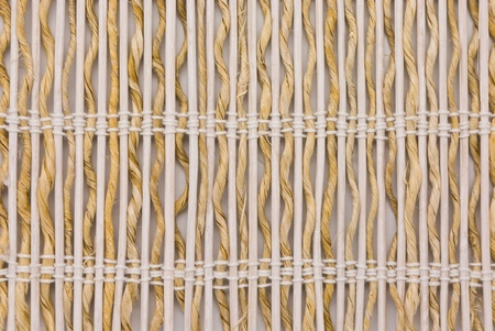 close up of bamboo curtain pattern material photo