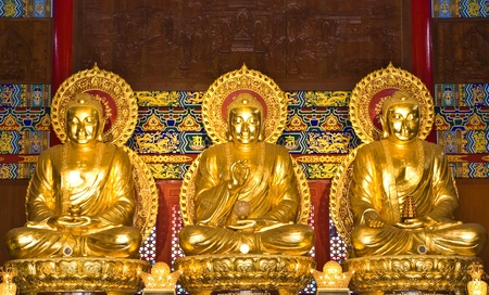 buddha statue in Wat-Leng-Noei-Yi2 at Bang-Bua-Thong, Nonthaburi, Thailand Stock Photo - 11689602