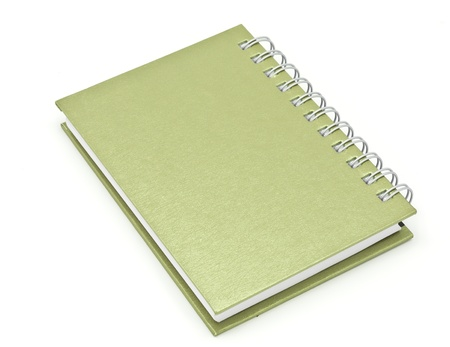 stack of ring binder book or brown notebook isolated on white background photo