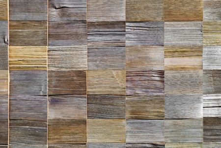 pattern of cedar wood decoration on wall Stock Photo