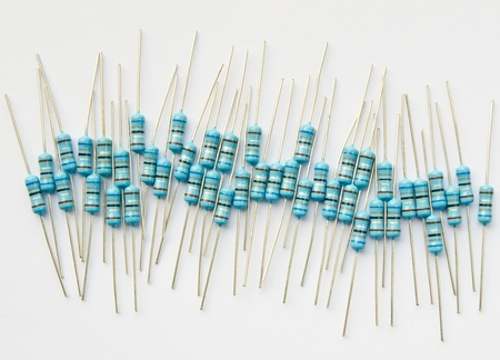 flagging: Electronic components, resistor on a white background