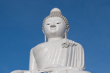 The Giant Big Marble Buddha at Phuket, Thailand photo