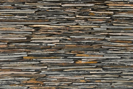 pattern of decorate Slate Stone wall Stock Photo