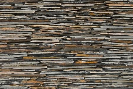decorate: pattern of decorate Slate Stone wall Stock Photo