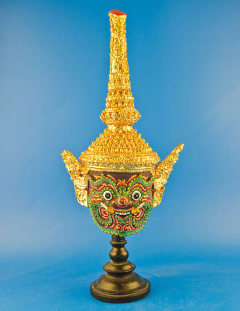 Native Thai style mask, use in royal performance, Khon  photo
