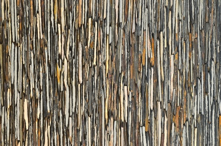 pattern of decorative slate stone wall surface photo