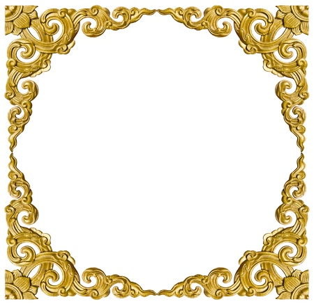 Traditional Thai style pattern decorative isolated on white background in temple,Thailand. photo