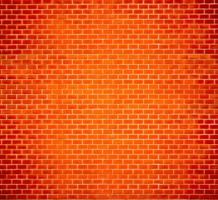 brick background: Decorative red brick wall texture in horizontal view